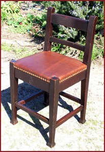 Rare Roycroft Marshall P. Wilder chair original finish