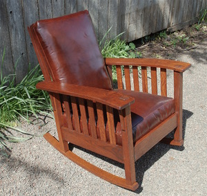 Stickley Brothers wavy arm rocker, signed
