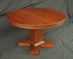 Exceptional Stickley Brothers Dining Table with Four Leaves Uncommon Form