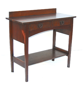 Gustav Stickley Harvey Ellis Oak Server model 802, double signed
