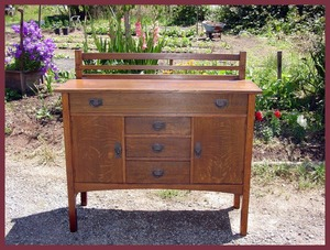 Original Gustav Stickley Buffet Sideboard